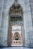 Entrance in the Suleymaniye mosque - Istanbul, Turkey Royalty Free Stock Photos