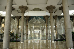 Entrance of Sultan Abdul Samad Mosque (KLIA Mosque) Royalty Free Stock Images