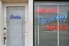 Entrance of Sun Records Studio in Memphis Royalty Free Stock Images