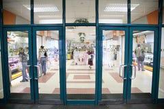Entrance into the supermarket Royalty Free Stock Photo