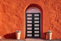 Entrance of the Svaneke church Stock Photography