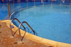 Entrance in swimming pool Stock Photos
