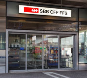 Entrance of the Swiss Federal Railways office in Wallisellen Stock Photography