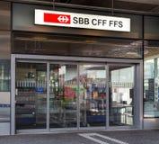 Entrance of the Swiss Federal Railways office in Wallisellen Stock Photography