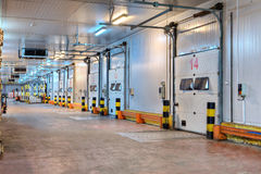 Entrance systems loading dock cold storage door  inside distribu Royalty Free Stock Photography