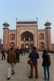 Entrance into the Taj Mahal Stock Images