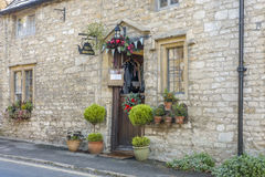 Entrance of Tea Room in Castle Combe Royalty Free Stock Photos