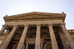 Entrance of Teatro Massimo Vittorio Emanuele, Palermo, Sicily. Stock Photos