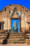 Entrance of temple, Ayutthaya. Entrance of temple in Ayutthaya historical park, Thailand Royalty Free Stock Photos
