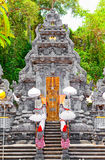 Entrance in temple, decorated to holiday.Indonesia Stock Images