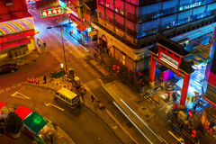 Entrance of the Temple Street in Hong Kong Stock Image
