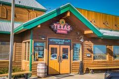 Entrance of the Texas Roadhouse restaurant. Lancaster, PA - January 15, 2017: Exterior of Texas Roadhouse restaurant location. Texas Roadhouse is a chain stock photos