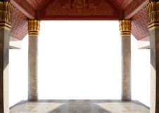 entrance of thai temple isolated on white background stock image