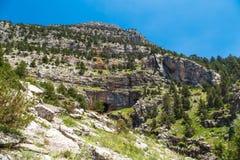 Entrance of Tinaztepe Caves in Konya Royalty Free Stock Photo