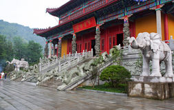 Free Entrance To A Buddhist Temple In Jiuhuashan, China Royalty Free Stock Photos - 38081118