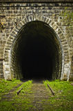 Entrance to an abandoned train tunnel Royalty Free Stock Photos