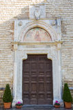 Entrance to the Abbey of Farfa. Stock Photography