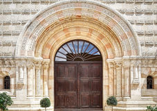 The entrance to the Abbey in Jerusalem Royalty Free Stock Photo
