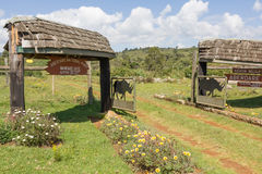 Entrance to Aberdare National Park, Kenya Stock Photos