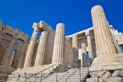 Entrance to Acropolis at Athens, Greece Stock Photo