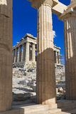 Entrance to Acropolis at Athens, Greece Stock Photos