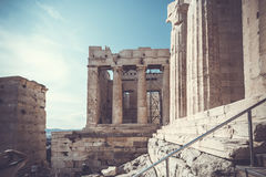 The entrance to Acropolis Stock Photography