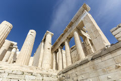 The entrance to Acropolis Royalty Free Stock Photography