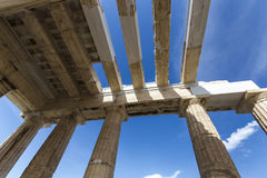 The entrance to Acropolis Stock Images