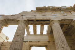 The entrance to Acropolis Royalty Free Stock Photos
