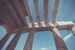 The entrance to Acropolis Stock Photos