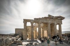 The entrance to Acropolis Stock Image