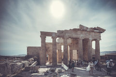 The entrance to Acropolis Royalty Free Stock Image