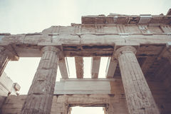 The entrance to Acropolis Royalty Free Stock Images