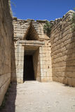 Entrance to the Agamemnon's tomb Stock Images