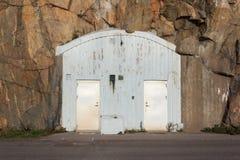 Entrance to an air-raid shelter Royalty Free Stock Photo