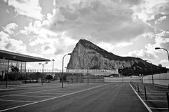 Entrance to the airport. The new International Airport Terminal in Gibraltar Royalty Free Stock Photography