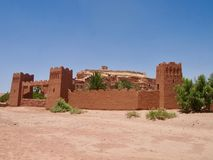 Entrance to Ait Benhaddou Ksar of Ait-Ben-Haddou Door in the S royalty free stock photography