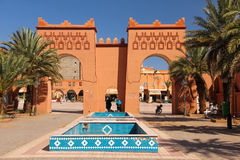 Entrance to Al Mouahidine square. Ouarzazate. Morocco. Stock Image