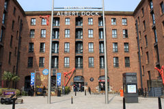 Entrance to Albert Dock, Liverpool, Merseyside. Stock Photo
