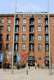 Entrance to Albert Dock, Liverpool, Merseyside. Royalty Free Stock Images