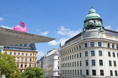 The entrance to the Albertina museum in Vienna Stock Images