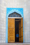 Entrance to Almaty Central Mosque, Kazakhstan Royalty Free Stock Photo