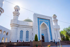 Entrance to Almaty Central Mosque, Kazakhstan Stock Photo