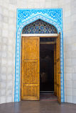 Entrance to Almaty Central Mosque, Kazakhstan Stock Image