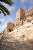 Entrance to Almeria castle Stock Photos