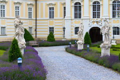 Entrance to Altenburg Baroque Abbey, Lower Austria Royalty Free Stock Images
