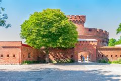 Entrance to the amber museum. Kaliningrad. Russia Royalty Free Stock Photo