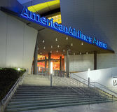 Entrance to American Airlines Arena in Midtown Miami. MIAMI, FL - DECEMBER 31 2014 - Miami's central art district in the Wynwood and Edgewater neighborhoods Royalty Free Stock Photo
