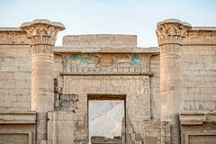 Entrance to the ancient castle of Medinet Abu stock photo