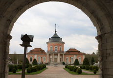 Entrance to the ancient castle Zolochiv. Ukraine stock photography